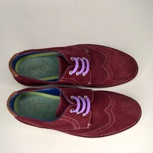 Ted Baker suede colourful shoes.
